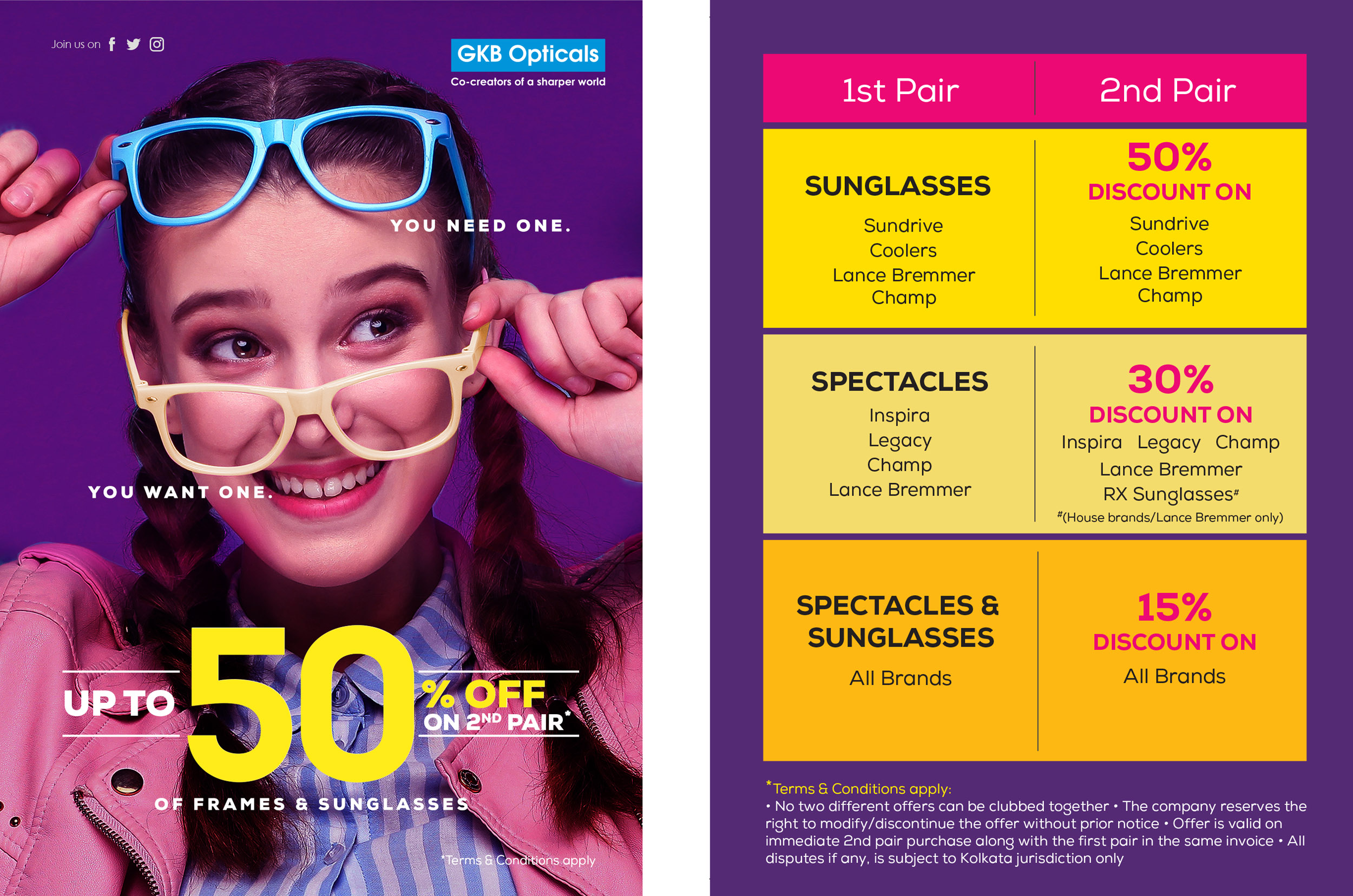 Upto 50% Off on 2nd pair