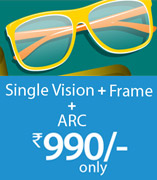 Frame + Lens at Rs.990/-
