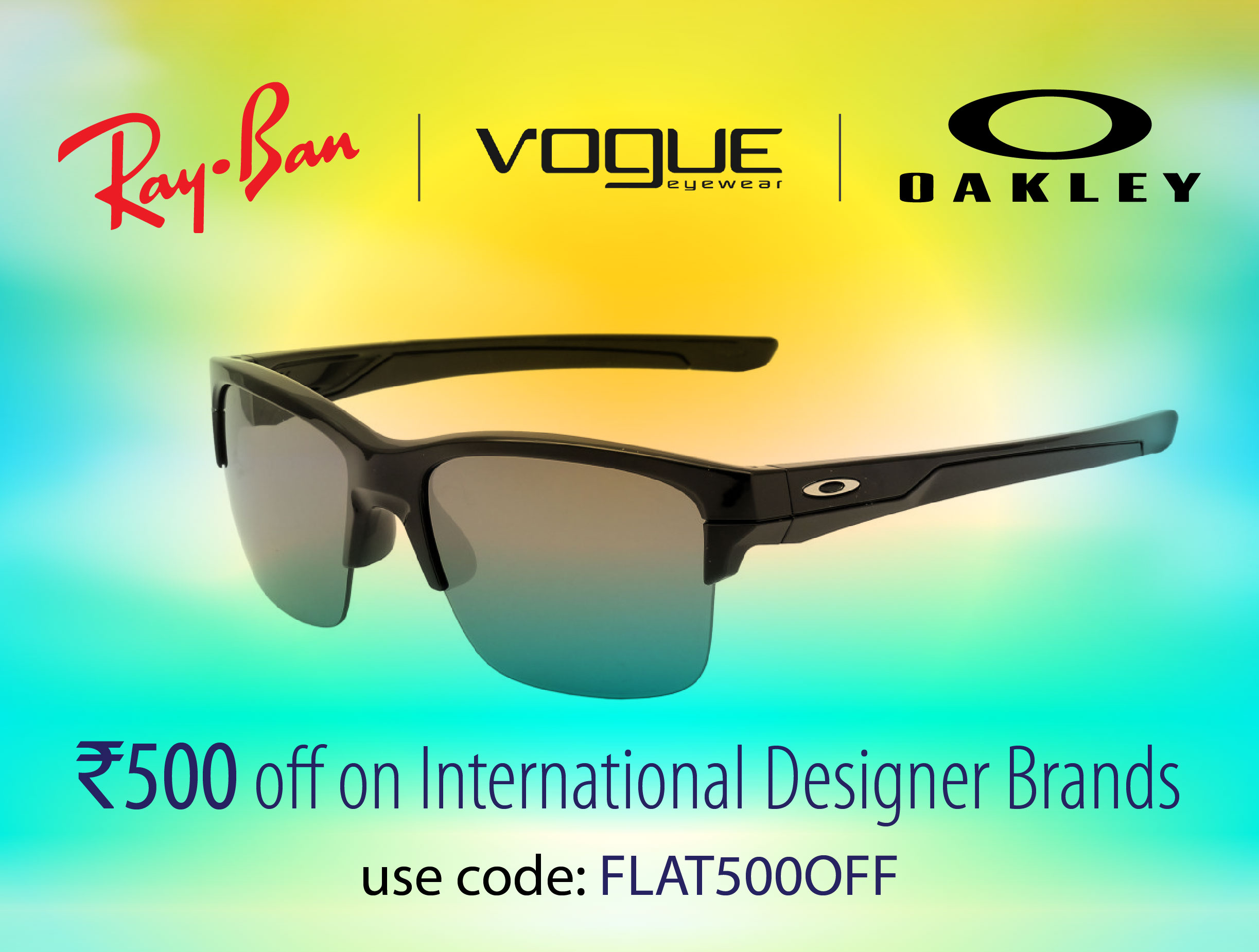 Flat 500 Off on International brands