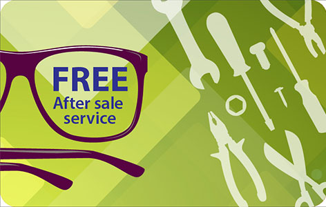 Free after sale service at our stores
